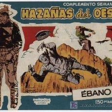 Tebeos: HAZAÑAS DEL OESTE AZUL Nº 19. TORAY 1959. SIN ABRIR. Lote 17558628