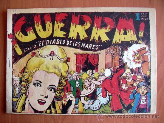 EL DIABLO DE LOS MARES Nº 62 - EDICIONES TORAY 1947 (Tebeos y Comics - Toray - Diablo de los Mares)