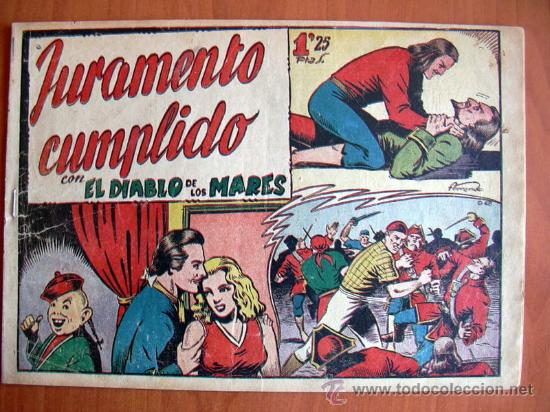 EL DIABLO DE LOS MARES Nº 68 EL ÚLTIMO DE LA COLECCIÓN - EDICIONES TORAY 1947 (Tebeos y Comics - Toray - Diablo de los Mares)