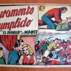 Tebeos: EL DIABLO DE LOS MARES Nº 68 EL ÚLTIMO DE LA COLECCIÓN - EDICIONES TORAY 1947. Lote 18151972