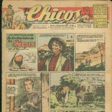 Tebeos: CHICOS. AÑO IX. Nº 405. 29 SEPTIEMBRE DE 1946. EN LOS DOMINIOS DE LOS SIOUX.. Lote 18453648