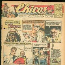 Tebeos: CHICOS. AÑO IX. Nº 395. 21 JULIO DE 1946. EN LOS DOMINIOS DE LOS SIOUX.. Lote 18453701