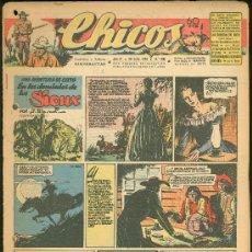 Tebeos: CHICOS. AÑO IX. Nº 396. 28 JULIO DE 1946. EN LOS DOMINIOS DE LOS SIOUX.. Lote 18453726