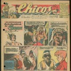 Tebeos: CHICOS. AÑO IX. Nº 394. 14 JULIO DE 1946. EN LOS DOMINIOS DE LOS SIOUX.. Lote 18453755