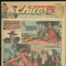 Tebeos: CHICOS. AÑO IX. Nº 393. 7 JULIO DE 1946. EN LOS DOMINIOS DE LOS SIOUX.. Lote 18453774