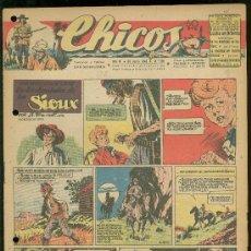 Tebeos: CHICOS. AÑO IX. Nº 392. 30 JUNIO DE 1946. EN LOS DOMINIOS DE LOS SIOUX.. Lote 18453823
