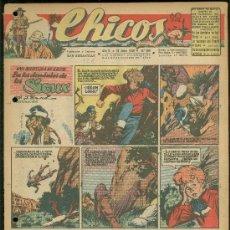 Tebeos: CHICOS. AÑO IX. Nº 390. 16 JUNIO DE 1946. EN LOS DOMINIOS DE LOS SIOUX.. Lote 18453834