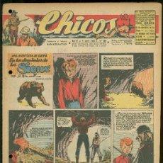 Tebeos: CHICOS. AÑO IX. Nº 389. 9 JUNIO DE 1946. EN LOS DOMINIOS DE LOS SIOUX.. Lote 18453840