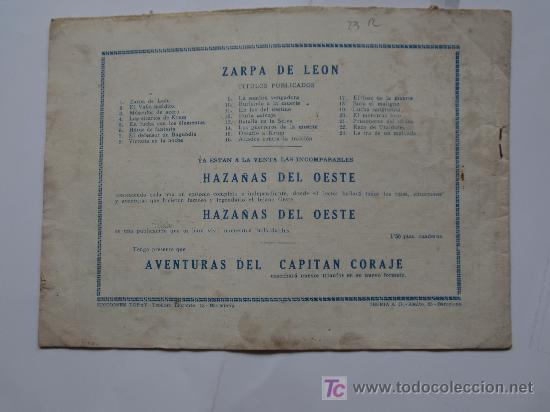 Tebeos: ZARPA DE LEON Nº23 ORIGINAL IMPECABLE - Foto 2 - 26916387