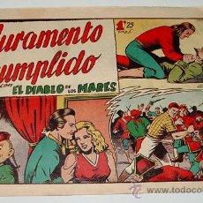 Tebeos: EL DIABLO DE LOS MARES - JURAMENTO CUMPLIDO - Nº 68 - EL ULTIMO NUMERO DE LA COLECCION.. Lote 19097478