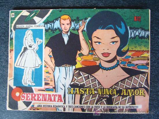 SERENATA. Nº 84 HASTA NUNCA AMOR 1959. CANCIONES MADALENA IGLESIAS. REVISTA JUVENIL FEMENINA. (Tebeos y Comics - Toray - Otros)
