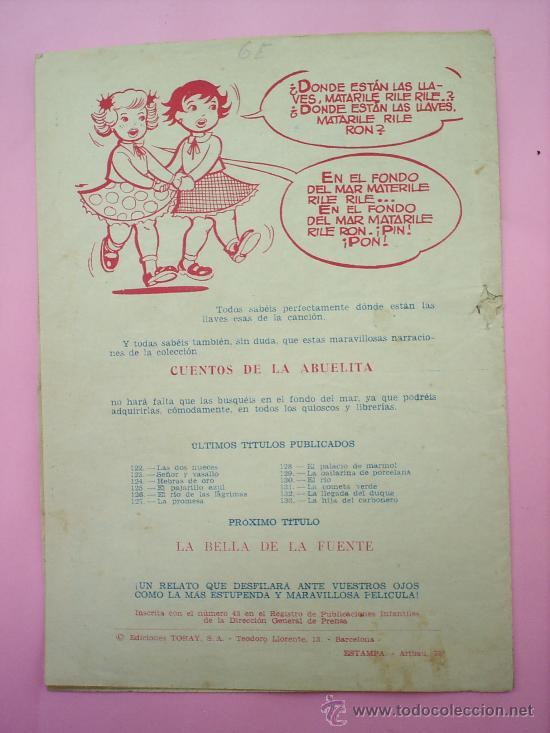 Tebeos: CUENTOS DE LA ABUELITA N.133, LA HIJA DEL CARBONERO , EDICIONES TORAY - Foto 2 - 20251752