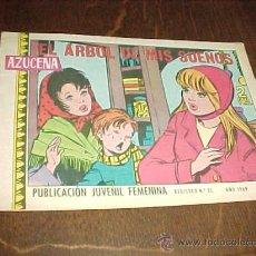 Tebeos: AZUCENA Nº 1105. EL ARBOL DE MIS SUEÑOS. PUBLICACION JUVENIL FEMENINA. AÑO 1969.. Lote 20318022