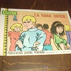 Tebeos: AZUCENA Nº 1187. LA EDAD DIFICIL. PUBLICACION JUVENIL FEMENINA. AÑO 1970. Lote 20318046