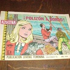 Tebeos: AZUCENA Nº 1117. ¡POLIZON A BORDO!. PUBLICACION JUVENIL FEMENINA. AÑO 1969. Lote 20318067