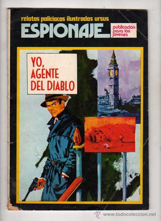 (M-1) ESPIONAJE, RELATOS POLICIACOS ILUSTRADOS URSUS, NUM.2 , EDT TORAY - 1974 (Tebeos y Comics - Toray - Espionaje)