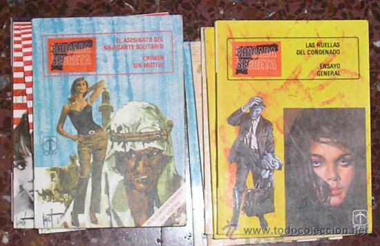 BRIGADA SECRETA TORAY LOTE DE 5 Nº (Tebeos y Comics - Toray - Brigada Secreta)