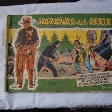 Tebeos: HAZAÑAS DEL OESTE Nº 25 TAPA DE CARTON ORIGINAL. Lote 26598732