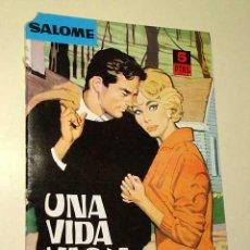 Tebeos: UNA VIDA VACIA. NOVELAS GRÁFICAS SALOMÉ Nº 22. EDICIONES TORAY 1962. HISTORIETA DE SELEC. ILUSTRADAS. Lote 21984587