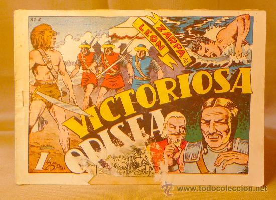 COMIC, VICTORIOSA ODISEA, ZARPA DE LEON, EDITORIAL TORAY, Nº 31, ORIGINAL (Tebeos y Comics - Toray - Zarpa de León)