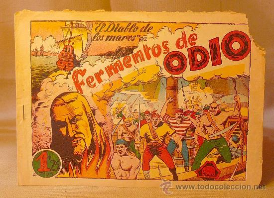 COMIC, EL DIABLO DE LOS MARES, Nº 61, FERMENTOS DE ODIO, EDICIONES TORAY, ORIGINAL (Tebeos y Comics - Toray - Diablo de los Mares)
