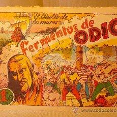 Tebeos: COMIC, EL DIABLO DE LOS MARES, Nº 61, FERMENTOS DE ODIO, EDICIONES TORAY, ORIGINAL. Lote 22521081