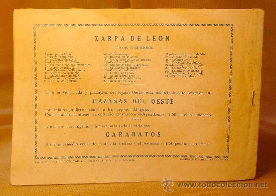 Tebeos: COMIC, VICTORIOSA ODISEA, ZARPA de LEON, EDITORIAL TORAY, Nº 31, ORIGINAL - Foto 2 - 22511978