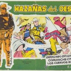 Tebeos: HAZAÑAS DEL OESTE VERDE Nº 16. TORAY 1959.. Lote 24052246