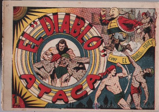 EL DIABLO DE LOS MARES Nº 11. TORAY 1947. (Tebeos y Comics - Toray - Diablo de los Mares)
