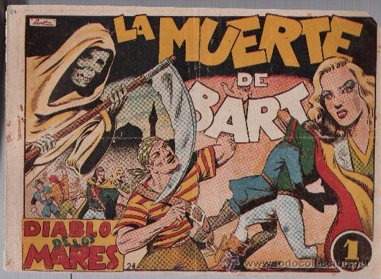 EL DIABLO DE LOS MARES Nº 24. TORAY 1947. (Tebeos y Comics - Toray - Diablo de los Mares)