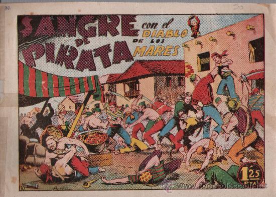 EL DIABLO DE LOS MARES Nº 30. TORAY 1947. (Tebeos y Comics - Toray - Diablo de los Mares)