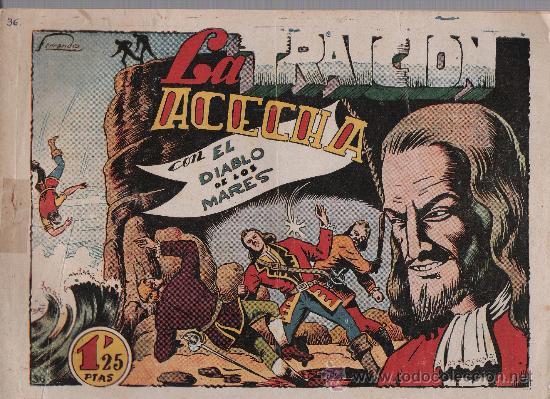 EL DIABLO DE LOS MARES Nº 36. TORAY 1947. (Tebeos y Comics - Toray - Diablo de los Mares)