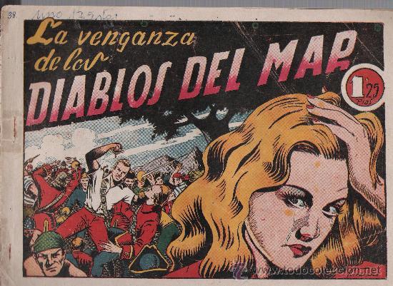 EL DIABLO DE LOS MARES Nº 38. TORAY 1947. (Tebeos y Comics - Toray - Diablo de los Mares)