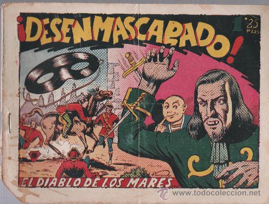 EL DIABLO DE LOS MARES Nº 52. TORAY 1947. (Tebeos y Comics - Toray - Diablo de los Mares)