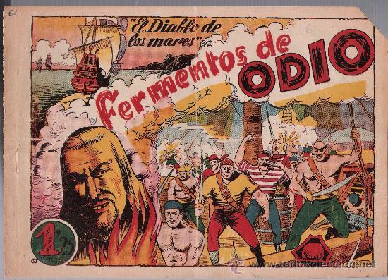 EL DIABLO DE LOS MARES Nº 61. TORAY 1947. (Tebeos y Comics - Toray - Diablo de los Mares)