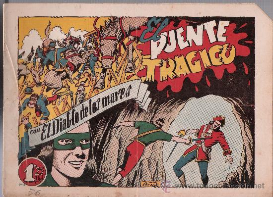 EL DIABLO DE LOS MARES Nº 59. TORAY 1947. (Tebeos y Comics - Toray - Diablo de los Mares)