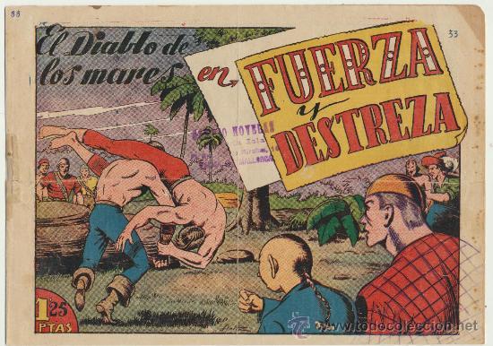 EL DIABLO DE LOS MARES Nº 33. TORAY 1947. (Tebeos y Comics - Toray - Diablo de los Mares)