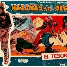 Tebeos: HAZAÑAS DEL OESTE AZUL, COMPLEMENTO SEMANAL Nº 10 EDI. TORAY 1959 ORIGINAL. Lote 25798959