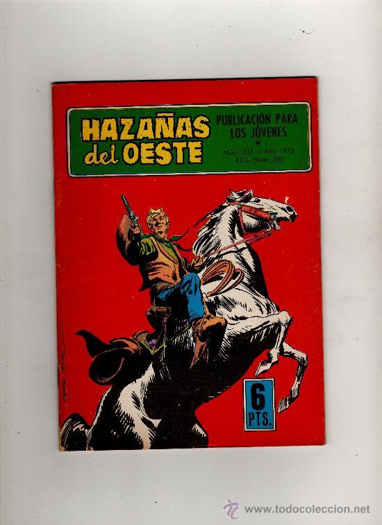 (M-4) HAZAÑAS DEL OESTE NUM 217, EDC TORAY 1970 - SEÑALES DE USO (Tebeos y Comics - Toray - Hazañas del Oeste)