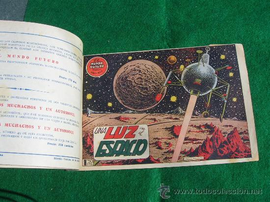 Tebeos: EXCEPCIONAL LOTE 1 AL 7 MUNDO FUTURO ORIGINAL 1956 VER FOTOS cj 22 - Foto 3 - 27460589