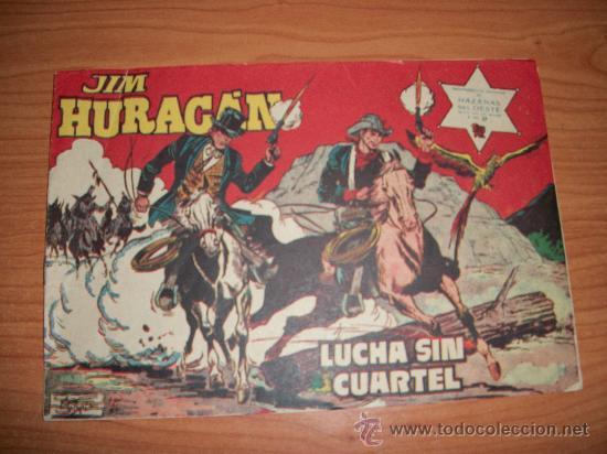 JIM HURACAN Nº 37 ORIGINAL EDITORIAL TORAY 1959 (Tebeos y Comics - Toray - Hazañas del Oeste)