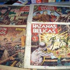 Tebeos: HAZAÑAS BÉLICAS ORIGINALES AÑOS 40 LOTE DE 8 NºS. TORAY. PORTES GRATIS.. Lote 26635201