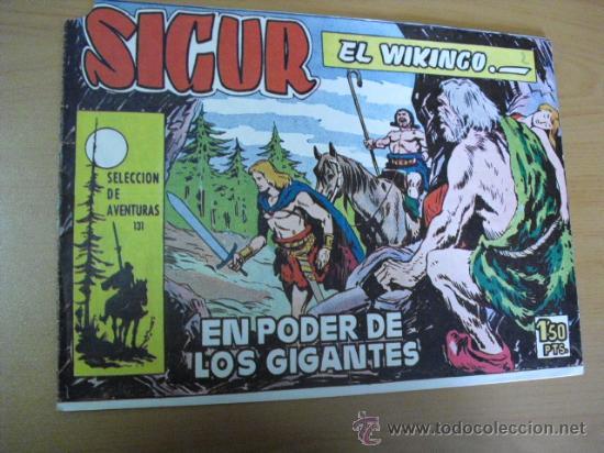 SIGUR EL WIKINGO Nº 131, DE TORAY 1958 PICO CORTADO (Tebeos y Comics - Toray - Otros)