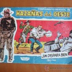 Tebeos: HAZAÑAS DEL OESTE Nº 20 - JIM DISPARA BIEN -- TORAY 1959. ¡¡ÚLTIMO NÚMERO!!. Lote 28227789