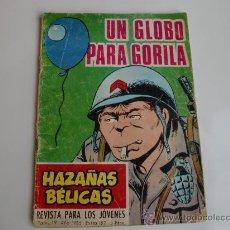 Tebeos: HAZAÑAS BELICAS Nº 187 1962 ORIGINAL. Lote 28286426