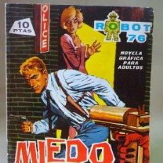 Tebeos: COMIC, ROBOT 76, MIEDO EN LA NOCHE, Nº 1, NOVELA GRAFICA, TORAY, . Lote 28375211