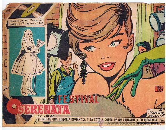 SERENATA 1965 REVISTA JUVENIL FEMENINA N 156 FESTIVAL (Tebeos y Comics - Toray - Otros)