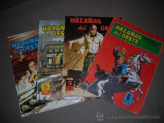 (M-4) HAZAÑAS DEL OESTE , EDT TORAY, A 5 EUROS UNIDAD, NUM. 38 - 50 - 54 - 217 , SEÑALES DE USO (Tebeos y Comics - Toray - Hazañas del Oeste)