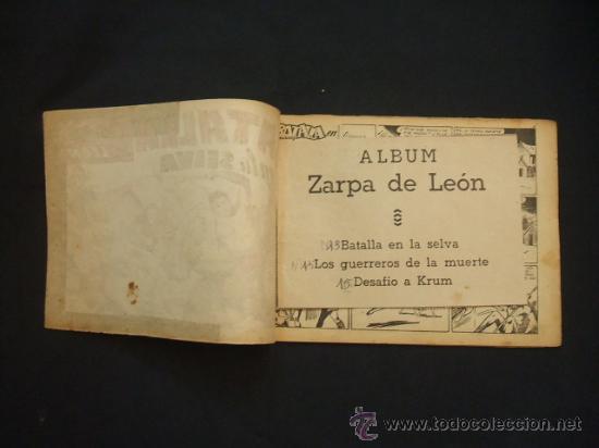 Tebeos: ZARPA DE LEON - ALBUM Nº 5 - CONTIENE 3 TEBEOS - EDICIONES TORAY - - Foto 2 - 30109323