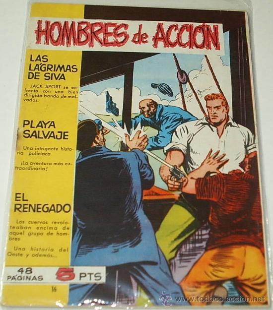 HOMBRES DE ACCION Nº 16 - ÚLTIMO NÚMERO ORIGINAL - TORAY 1958 - LEER (Tebeos y Comics - Toray - Otros)